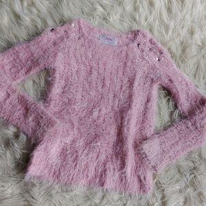 Justice Pink Fur Sweater